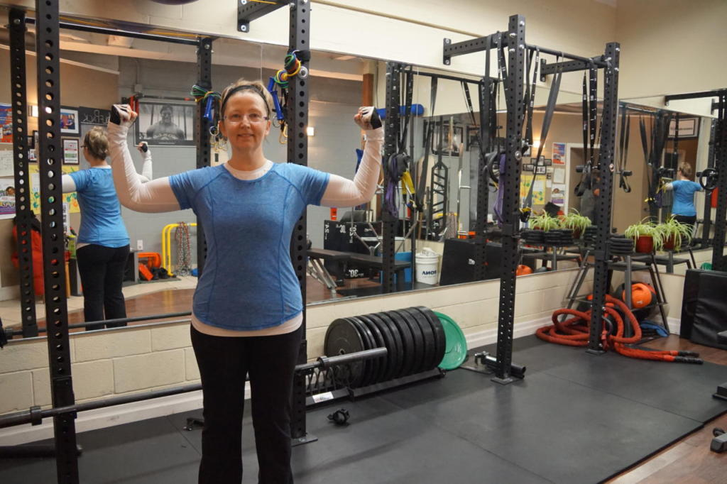 Debbie has worked hard in her first 2 months to lose weight and get stronger