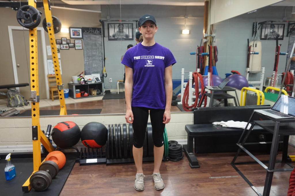 Elise has an athletic background but didn't do much weight training before RCF.