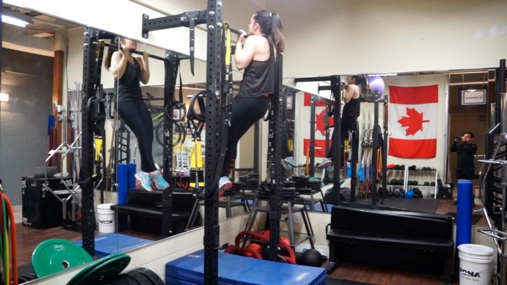 Renee Was able to strengthen her knee and her upper body during her ACL recovery!