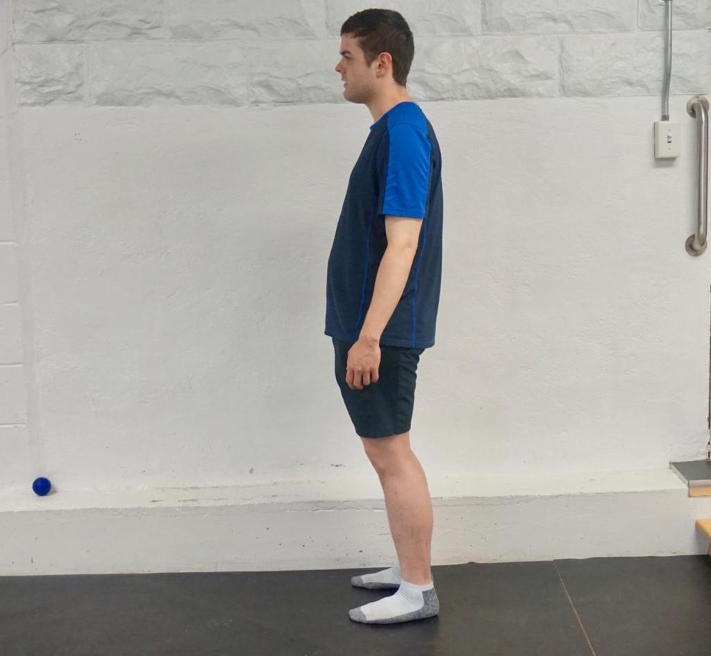 Zane's posture before training wasn't ideal.